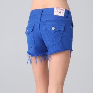 True Religion Royal Blue Keira Shorts